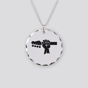 HAND ON BASS GUITAR Necklace