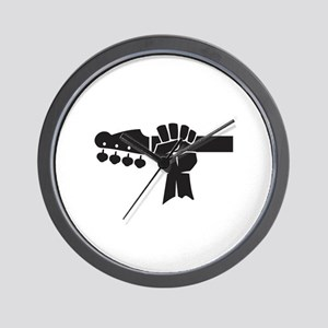 HAND ON BASS GUITAR Wall Clock