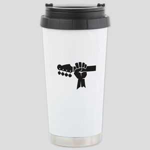 HAND ON BASS GUITAR Travel Mug