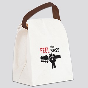 FEEL THE BASS Canvas Lunch Bag
