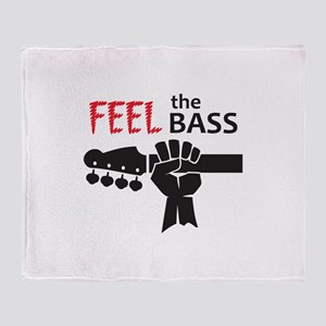 FEEL THE BASS Throw Blanket