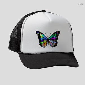 Prismatic Rainbow Winged Butterfl Kids Trucker hat