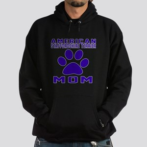 American Staffordshire Terrier mom d Hoodie (dark)