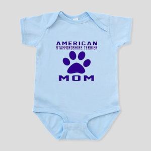 American Staffordshire Terrier mom Infant Bodysuit