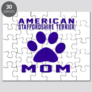 American Staffordshire Terrier mom designs Puzzle