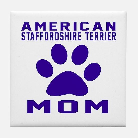 American Staffordshire Terrier mom de Tile Coaster
