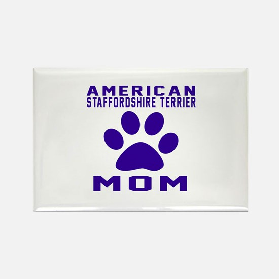 American Staffordshire Terrier mo Rectangle Magnet