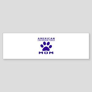 American Staffordshire Terrier mo Sticker (Bumper)