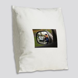 Rear-view Roll-Over Burlap Throw Pillow