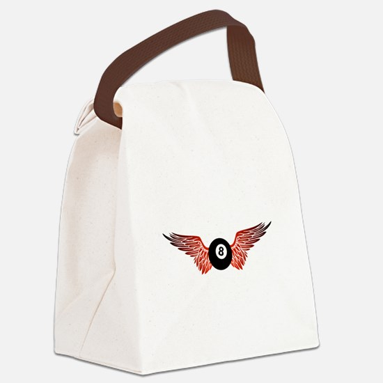 winged 8ball Canvas Lunch Bag