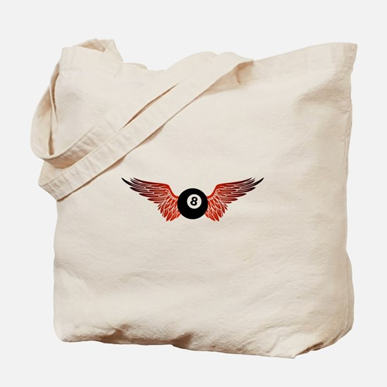 winged 8ball Tote Bag
