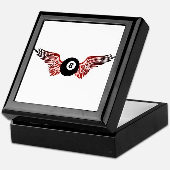 winged 8ball Keepsake Box