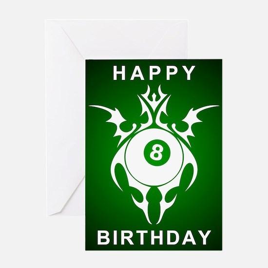 billiards birthday greetings Greeting Cards