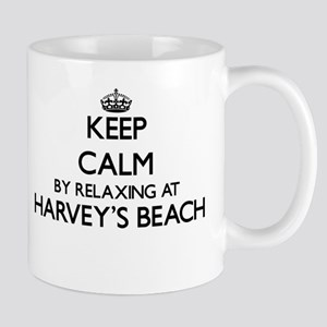 Keep calm by relaxing at Harvey'S Beach Conne Mugs