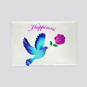 Bluebird Of Happiness Rectangle Magnet