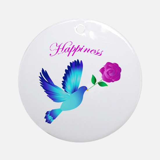 Bluebird Of Happiness Ornament (Round)