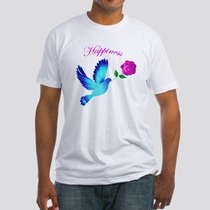 Bluebird Of Happiness Fitted T-Shirt