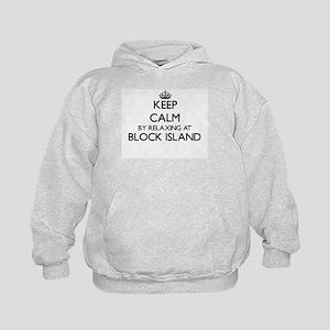 Keep calm by relaxing at Block Island Kids Hoodie