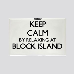 Keep calm by relaxing at Block Island Rhod Magnets
