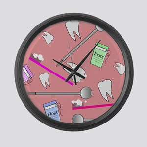 Dental Tools Large Wall Clock