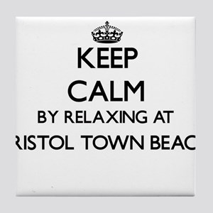 Keep calm by relaxing at Bristol Town Tile Coaster