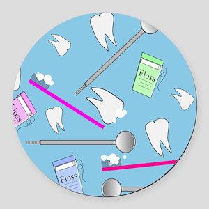 Dental Tools Round Car Magnet