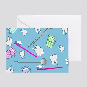 Dental Tools Greeting Cards