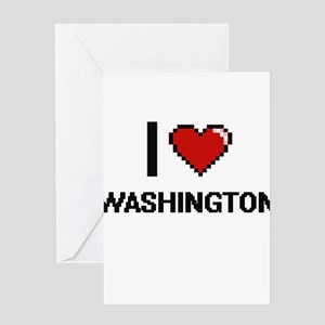 I love Washington Digital Design Greeting Cards