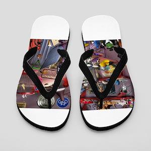 Seek & Find Graffiti Flip Flops