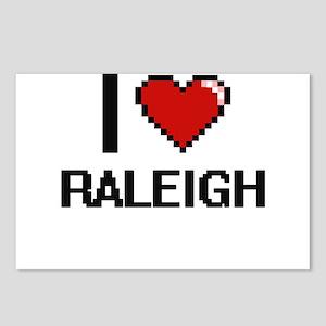 I love Raleigh Digital De Postcards (Package of 8)