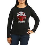 Acha Family Crest Women's Long Sleeve Dark T-Shirt