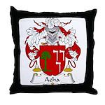 Acha Family Crest Throw Pillow