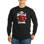 Acha Family Crest Long Sleeve Dark T-Shirt