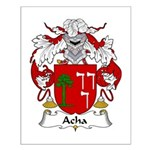 Acha Family Crest Small Poster