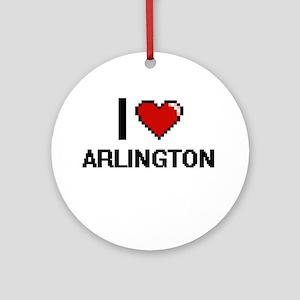 I love Arlington Digital Design Round Ornament