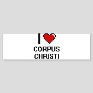 I love Corpus Christi Digital Desig Bumper Sticker