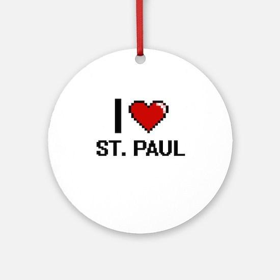 I love St. Paul Digital Design Round Ornament