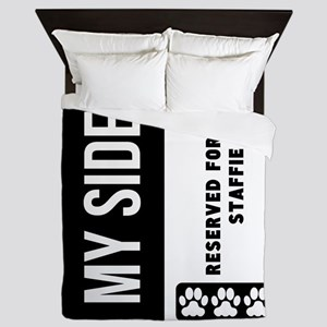 Reserved For My Staffie Queen Duvet