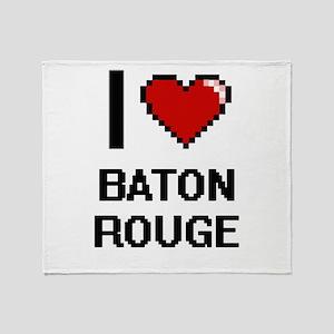 I love Baton Rouge Digital Design Throw Blanket