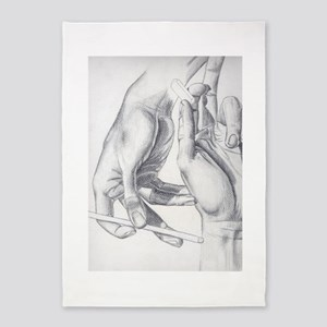 Artist Hands 5'x7'area Rug