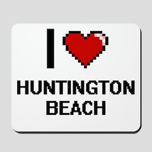 I love Huntington Beach Digital Design Mousepad