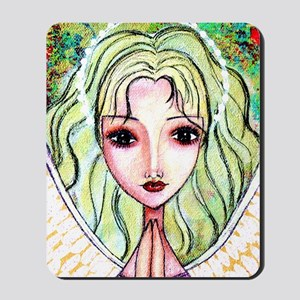 ACEO yellow hair angel Mousepad
