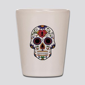 sugar skull Shot Glass
