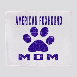 American foxhound mom designs Throw Blanket