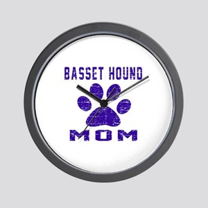 Basset Hound mom designs Wall Clock