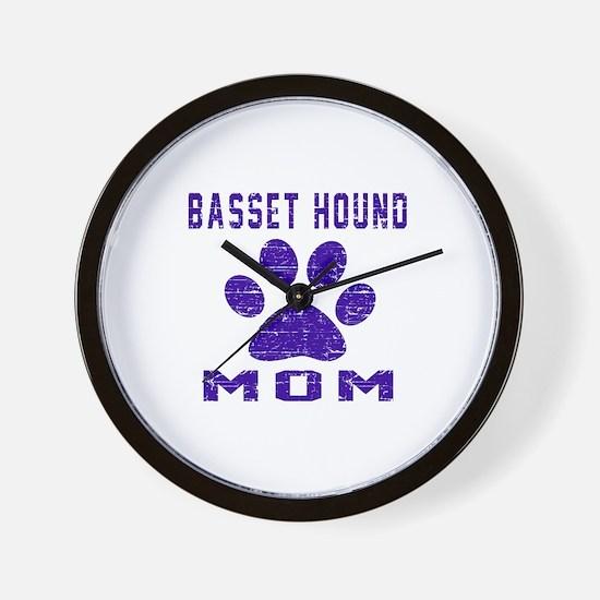 Basset Hound mom designs Wall Clock