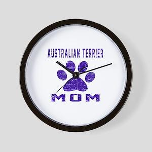 Australian Terrier mom designs Wall Clock