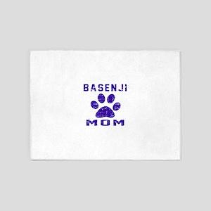 Basenji mom designs 5'x7'Area Rug