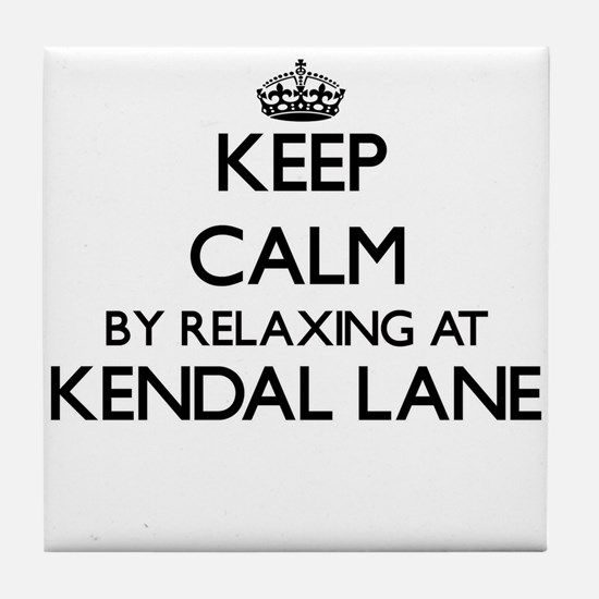 Keep calm by relaxing at Kendal Lane Tile Coaster