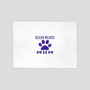 Belgian Malinois mom designs 5'x7'Area Rug